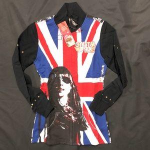 Crystal Rock Christian Audigier England Flag